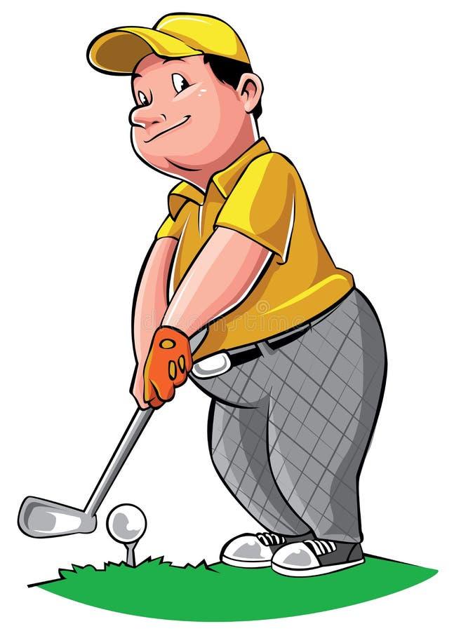 golf isolerade spelare sköt studion vektor illustrationer