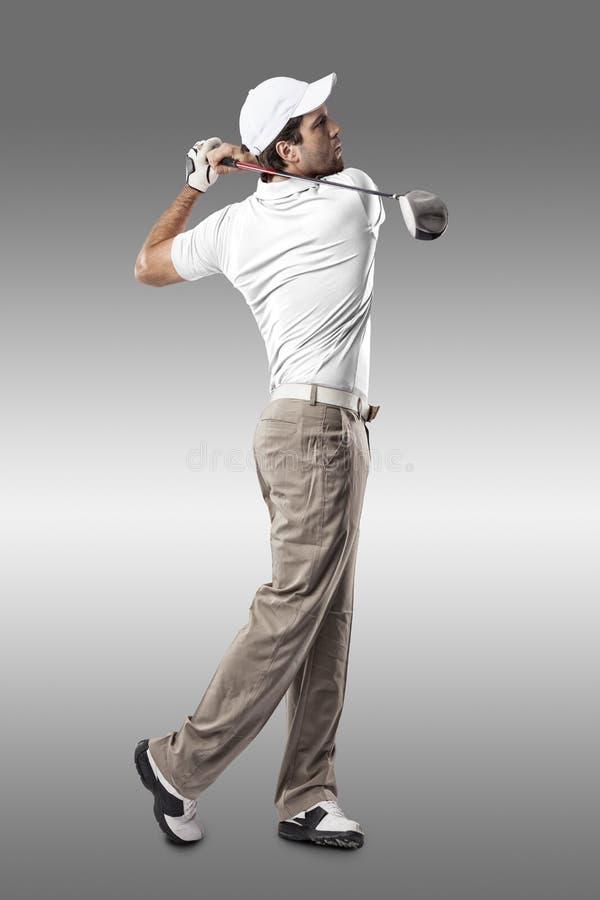 golf isolerade spelare sköt studion arkivfoton