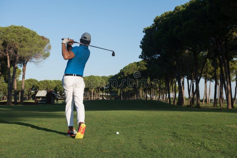 golf isolerade spelare sköt studion royaltyfria bilder