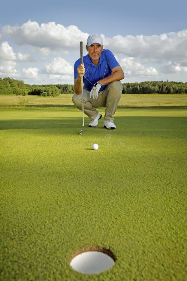 golf isolerade spelare sköt studion arkivfoto