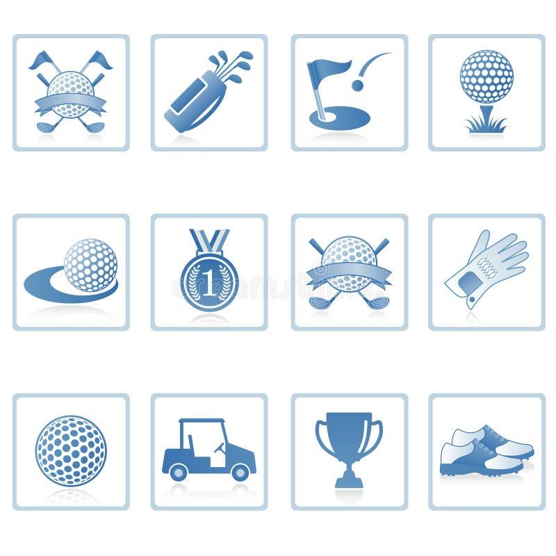 golf ja ikony sieć ilustracji