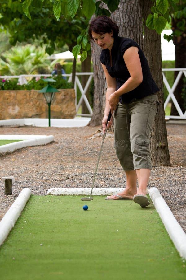 golf karzeł grać zdjęcia royalty free
