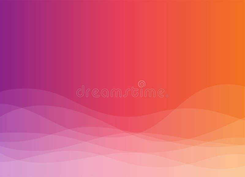 Golf kleurrijke abstracte vectorachtergrond stock illustratie