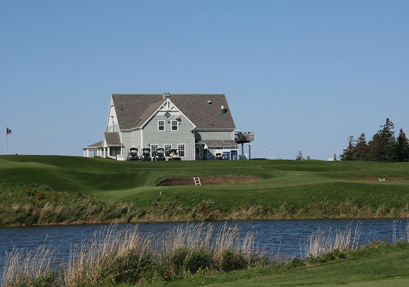 Golf-Klubhaus lizenzfreies stockbild
