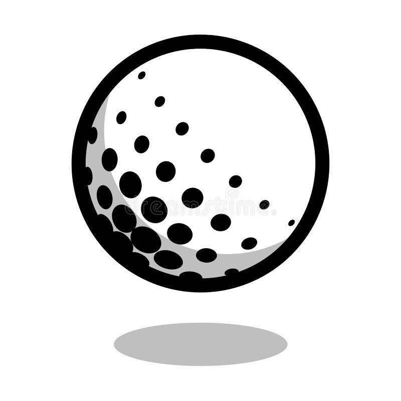 Golf la línea icono archivado juego del vector del logotipo de la bola del deporte de 3d aislado ilustración del vector