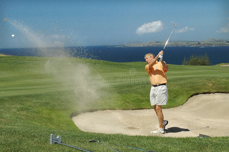 Golf - la trappe photographie stock