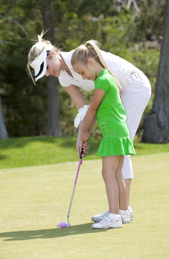 Download Golf Lesson stock image. Image of learning, girl, lifestyle - 9673915