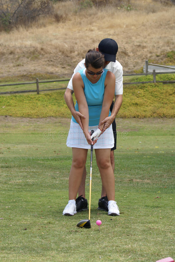 Download Golf Lessons stock image. Image of teach, instructor - 10368021