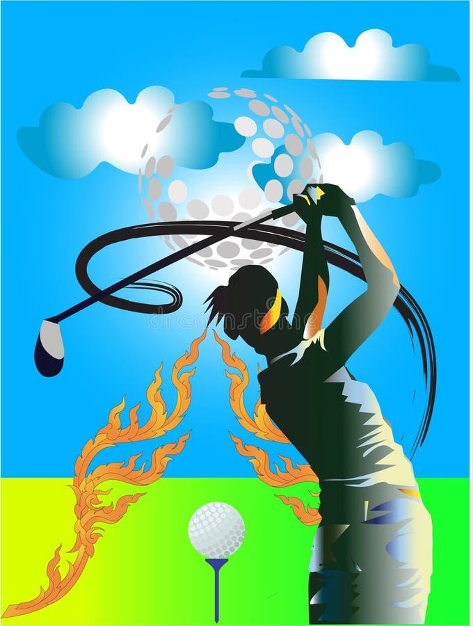 Golf Little swing royaltyfri illustrationer