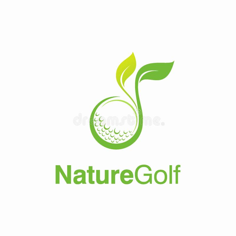 Golf Logo Design Concept de la naturaleza libre illustration