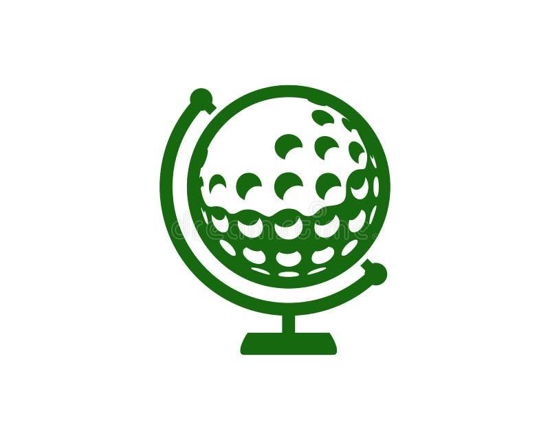 Golf Logo Icon Design de la terre illustration stock