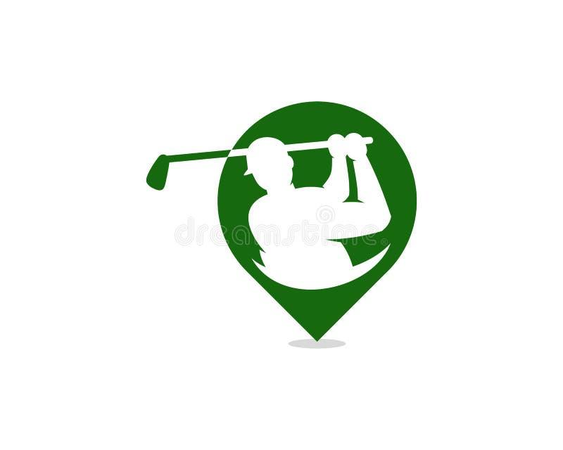 Golf Logo Icon Design del punto libre illustration