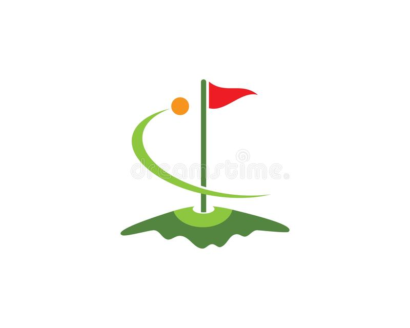 Golf Logo Template royalty free illustration