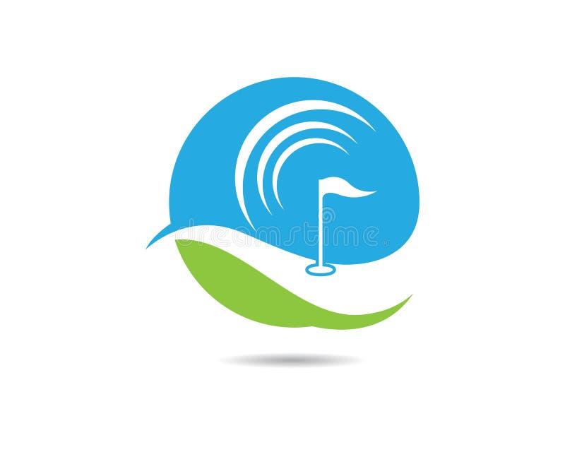 Golf-Logo Template-Vektorillustration stock abbildung