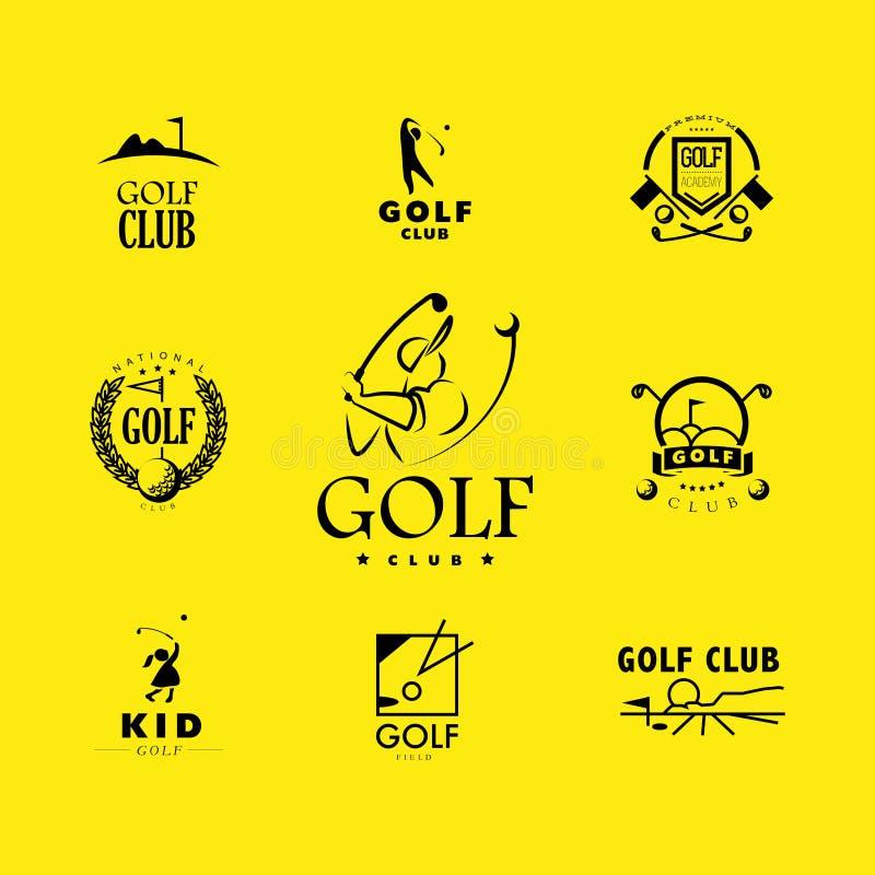 Golf-Logodesign des Vektors flaches lizenzfreie abbildung