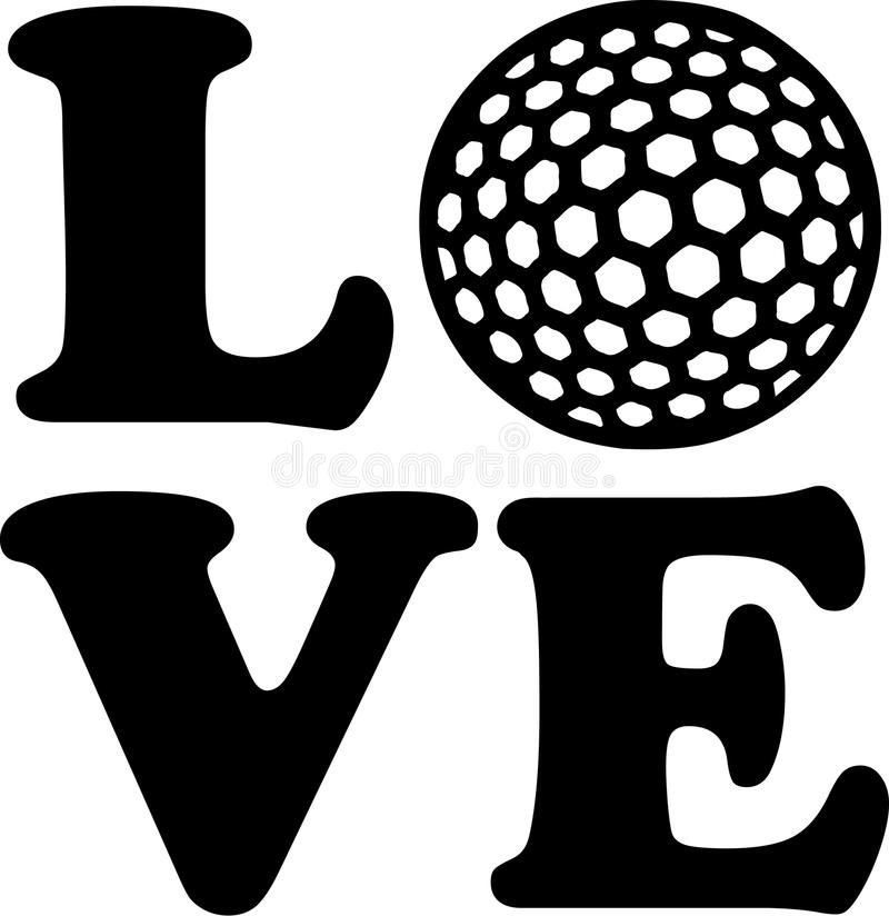 Golf Love Ball. Sports vector royalty free illustration