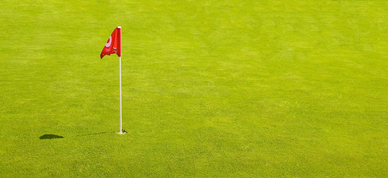 Golf-Markierungsfahne Stockfoto