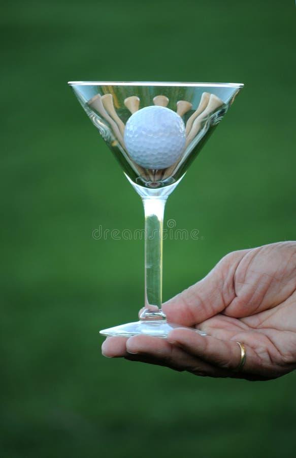 Golf martini 2a stock image