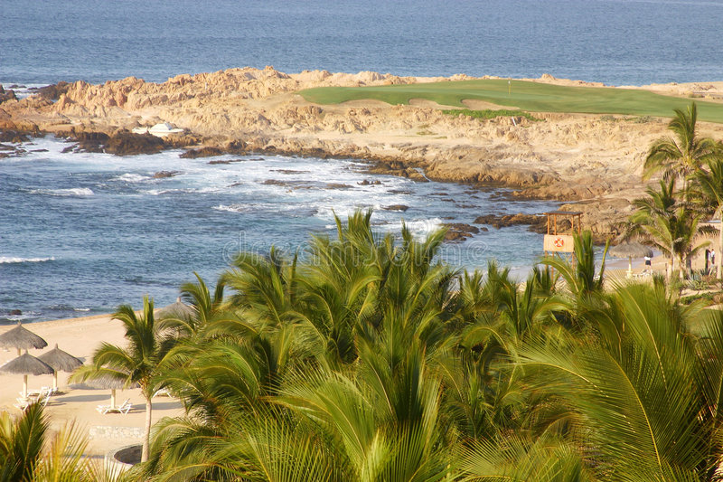 golf na plaży obraz stock
