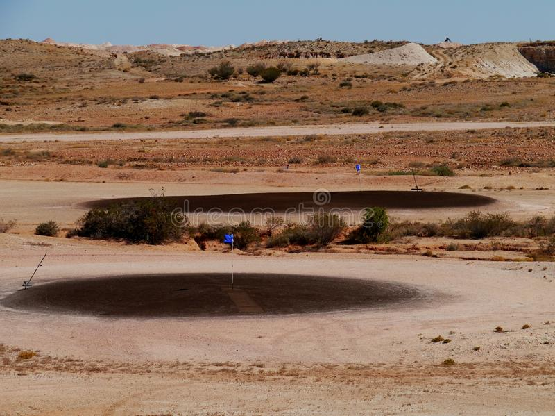 Golf nel deserto fotografia stock libera da diritti