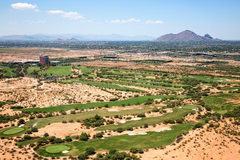 Golf nel deserto fotografie stock libere da diritti