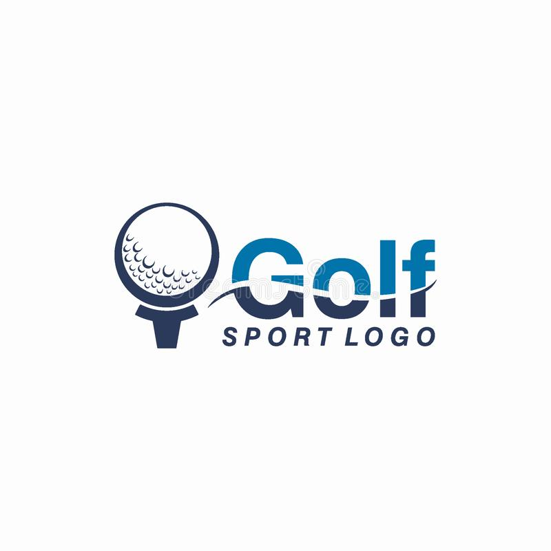 Golf o deporte Logo Design Concept del club libre illustration