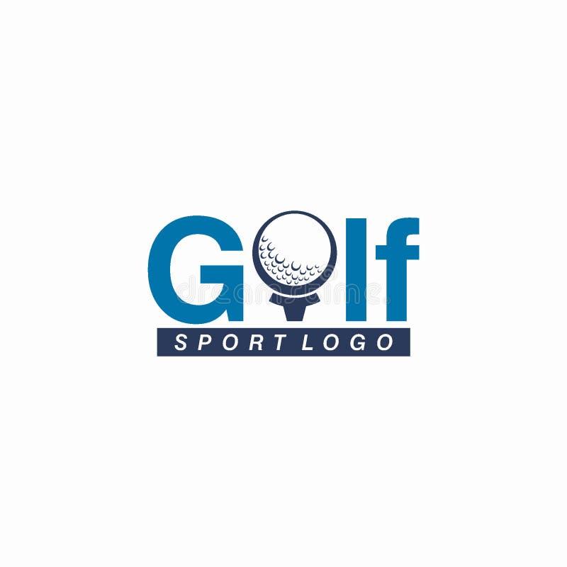 Golf o deporte Logo Design Concept del club ilustración del vector