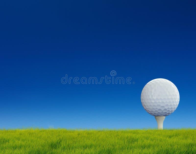 Golf op grascursus stock afbeelding