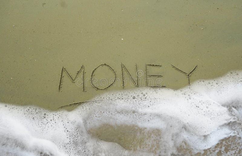 Golf over geld royalty-vrije stock afbeeldingen
