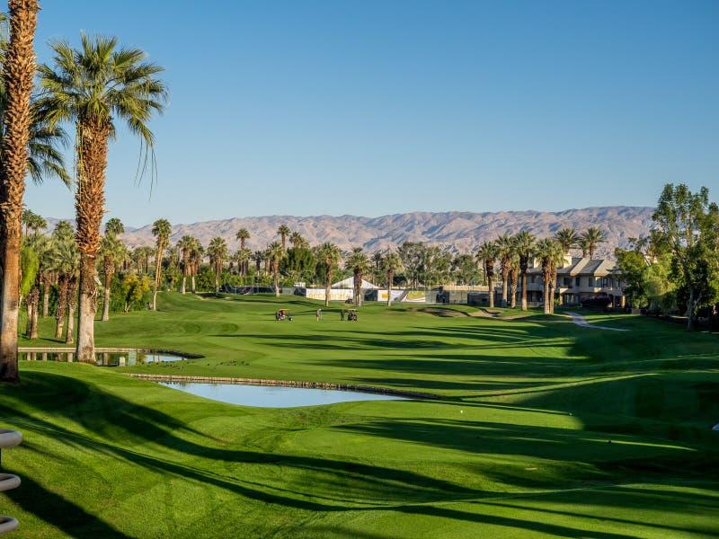Golf på Marriott villor, Palm Desert arkivfoton
