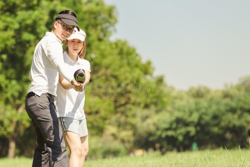 Golf-Paare lizenzfreies stockbild