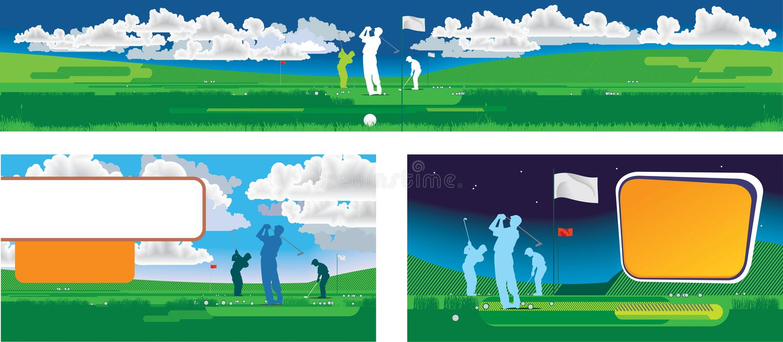 Download Golf panorama stock illustration. Image of clouds, landscape - 7987687