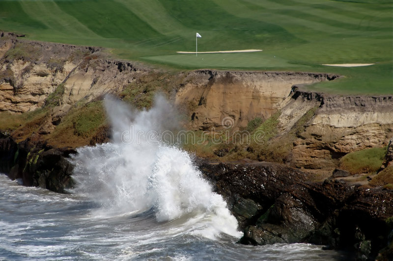 Golf par la mer 4 images stock