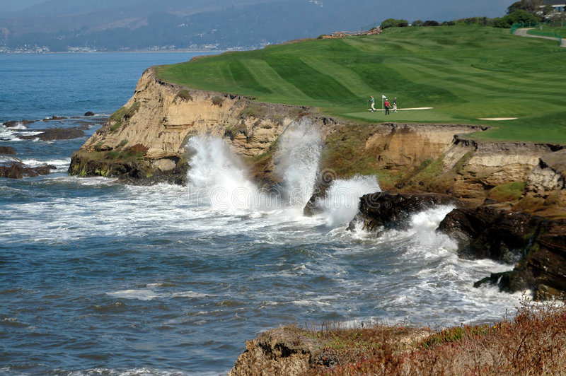 Golf par la mer 6 images stock