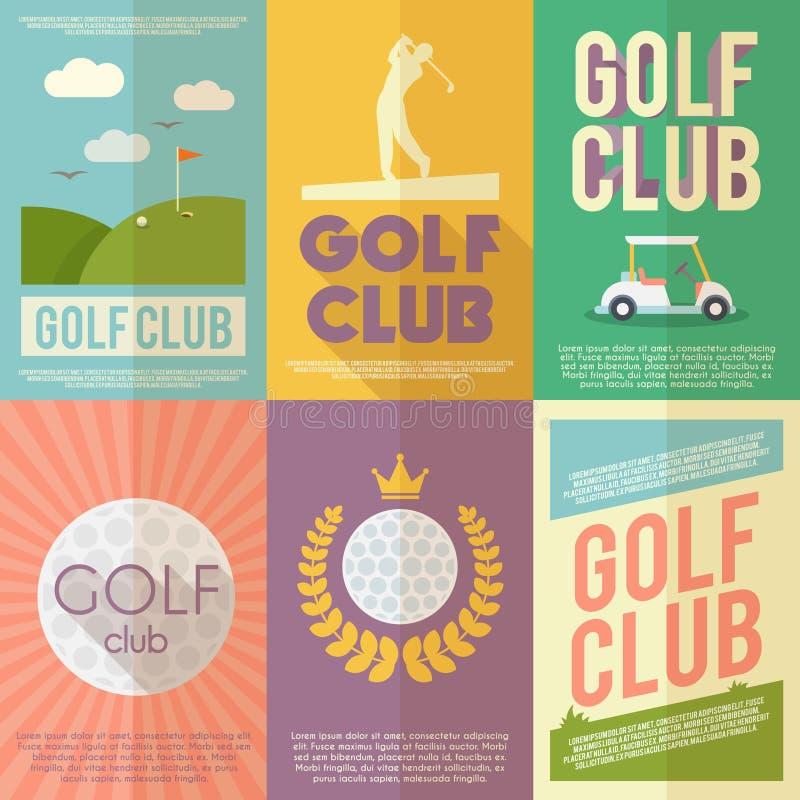 Golf-Plakat-Satz vektor abbildung