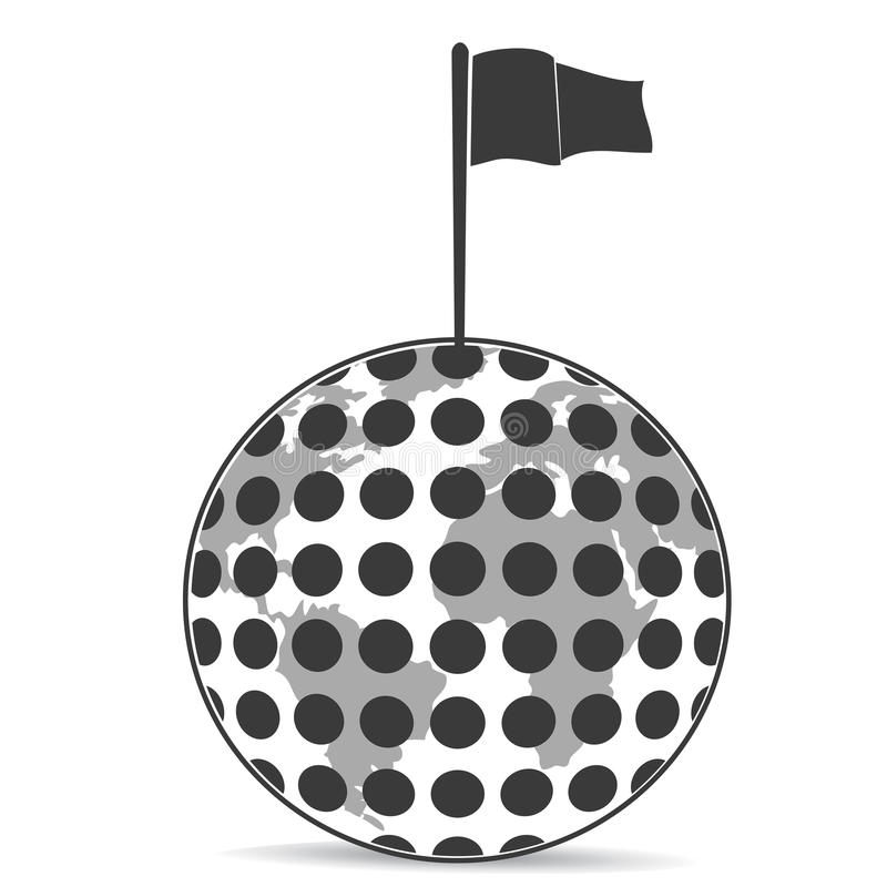 Download Golf Planet with flag stock vector. Image of continent - 25236384