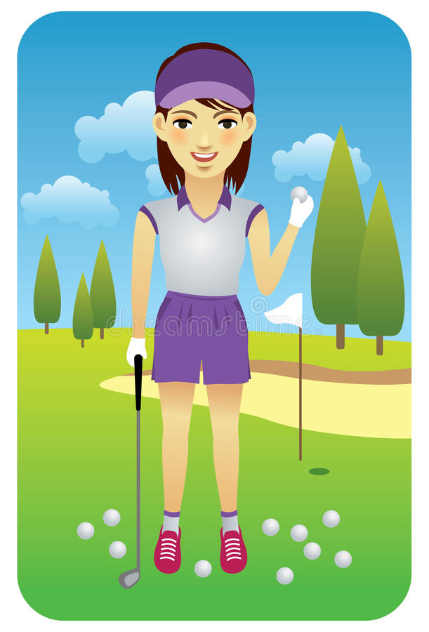 Download Golf Player stock vector. Image of entertainment, leisure - 10179784