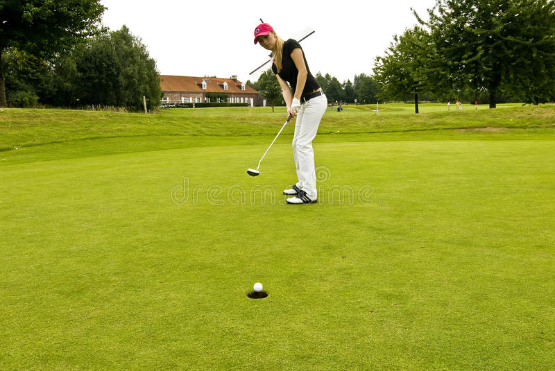 Download Golf player stock photo. Image of lights, ball, woman - 13949652