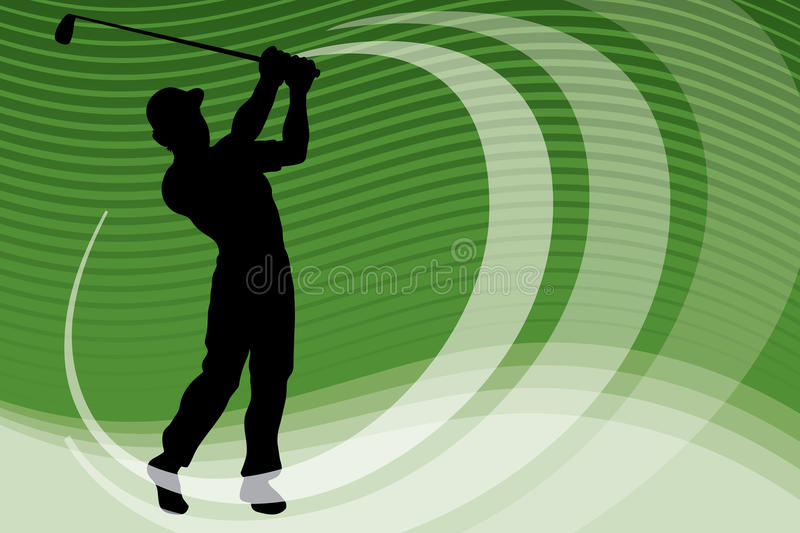 Golf Player. An illustration of a golf player swinging his club
