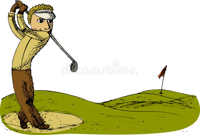Download Golf player stock vector. Image of illustration, player - 22784829