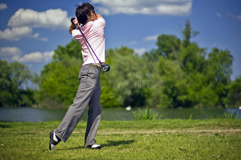 Download Golf Player stock photo. Image of active, green, lawn - 24580664