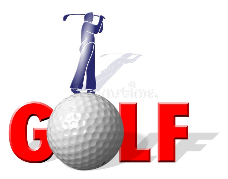 Golf player stock illustration
