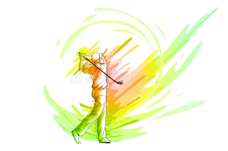 Golf Player royalty free illustration