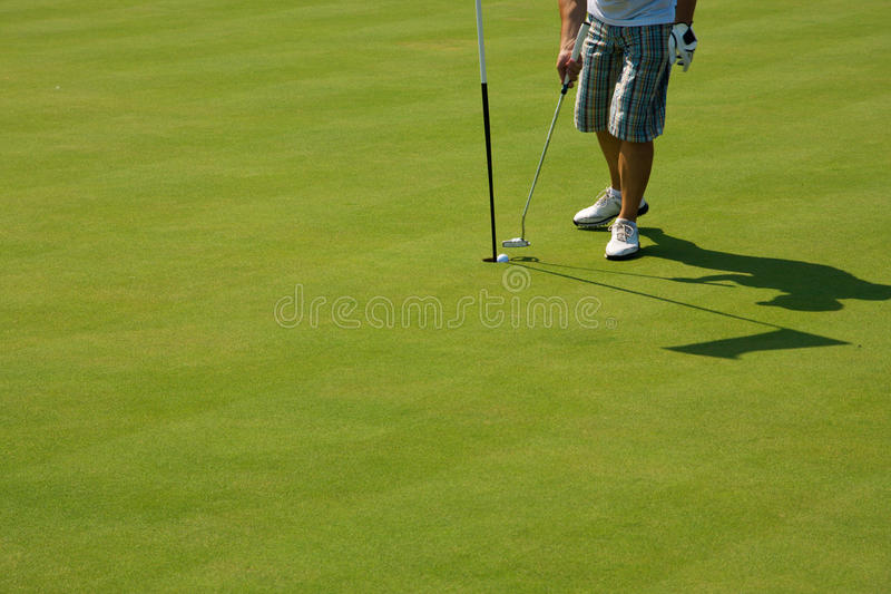 Download Golf player on green stock photo. Image of birdie, cloud - 14186110