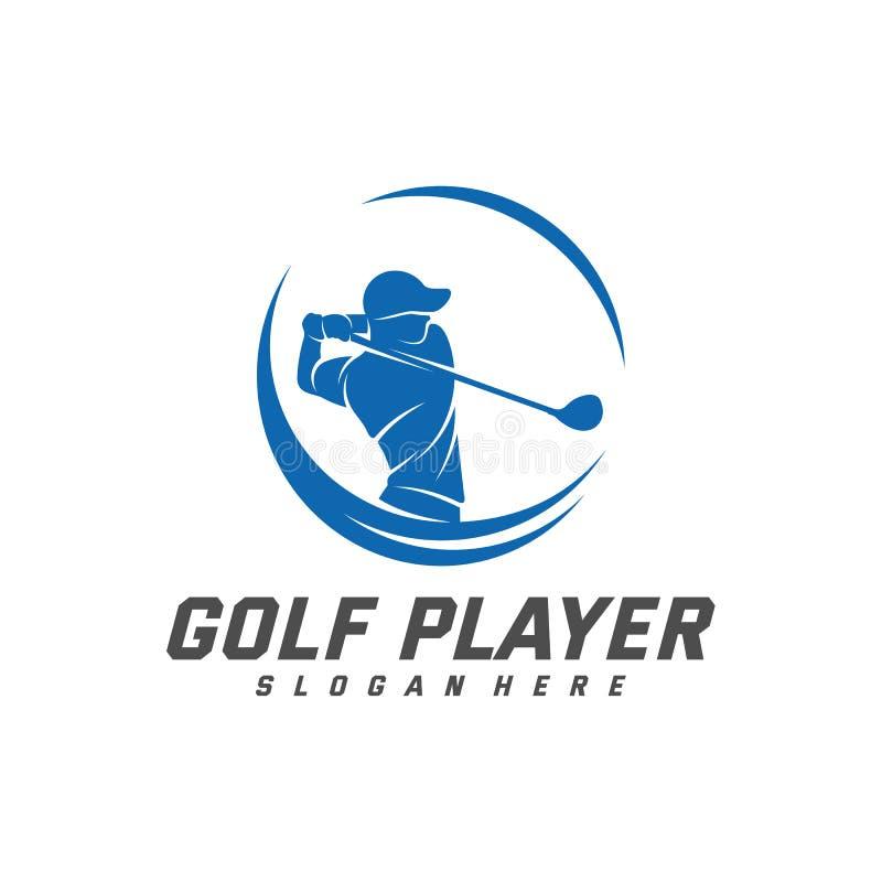 Golf Player Logo Design Vector Template Vector Label Of Golf Logo Of Golf Championship Illustration Creative Icon Design Stock Vector Illustration Of Golfer Hobby 166638659