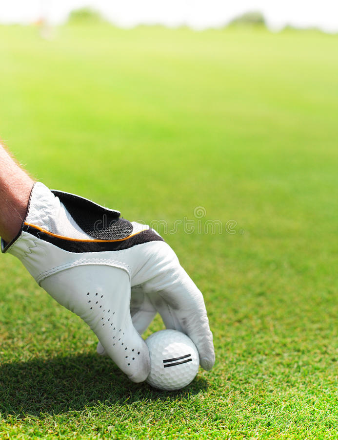 Download Golf Player Man Holding Golf Ball Stock Image - Image: 30685301