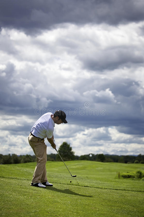 Download Golf player pitching stock photo. Image of nature, ball - 14448904
