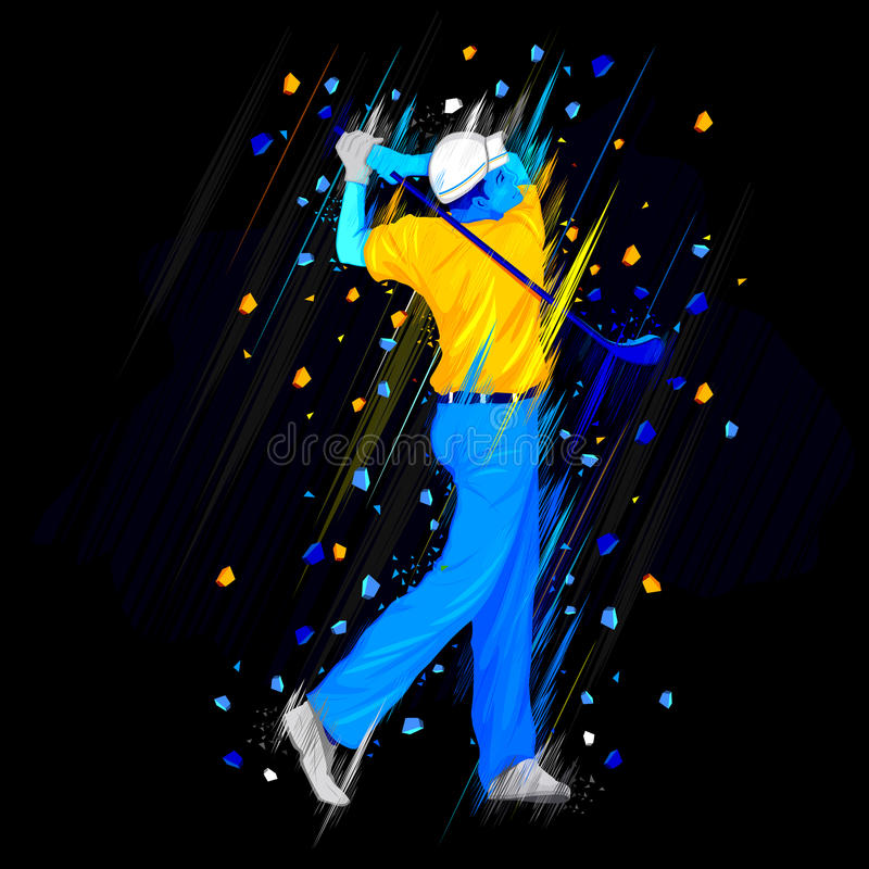 Golf Player player stock illustration