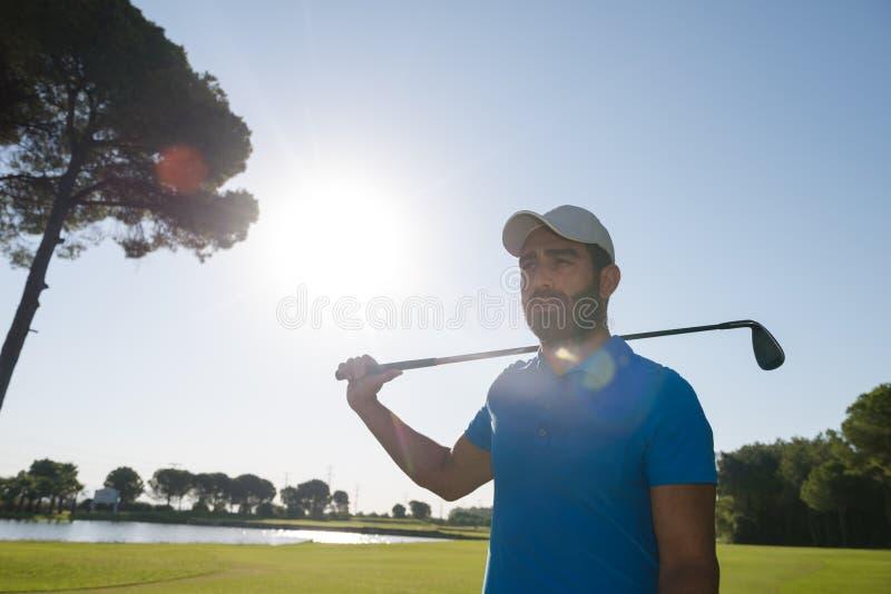 Golf player portrait royalty free stock photo