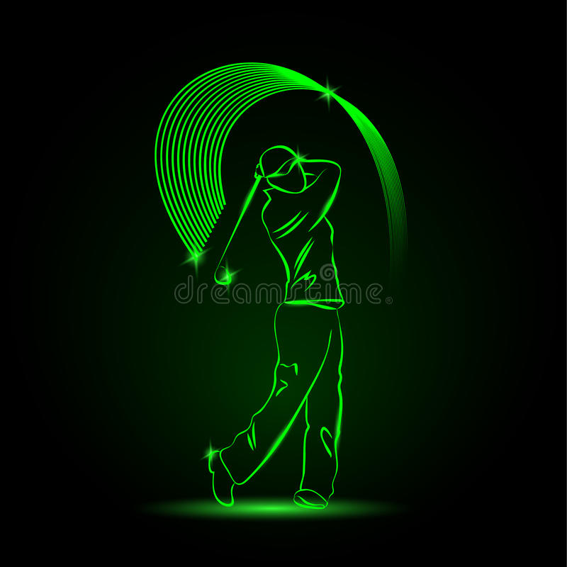 Golf player with a stick royalty free illustration
